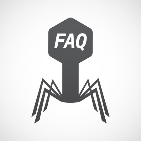 asked: Illustration of an isolated virus with    the text FAQ
