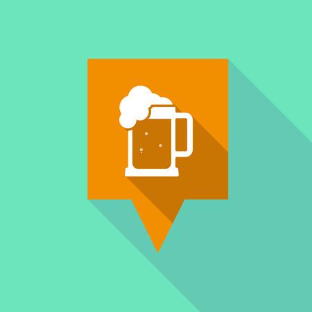 beer jar: Ilustración de una larga sombra sobre herramientas con un icono de jarra de cerveza Vectores
