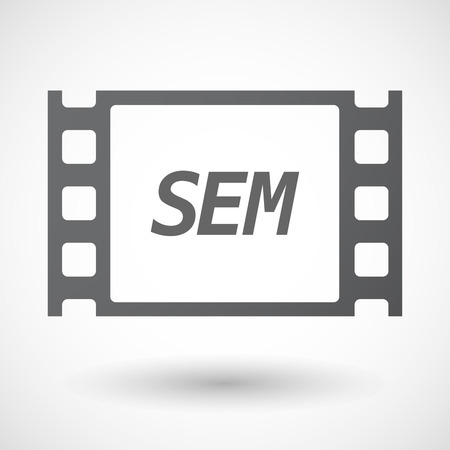 sem: Illustration of an isolated film frame with    the text SEM Illustration
