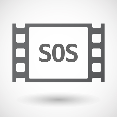 s video: Illustration of an isolated film frame with    the text SOS Illustration