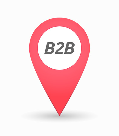 b2b: Illustration of an isolated map mark with    the text B2B
