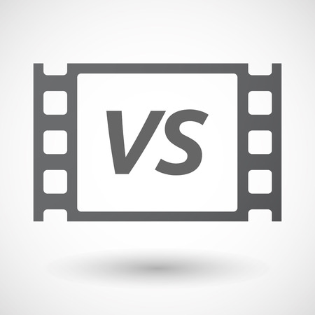 vs: Illustration of an isolated film frame with    the text VS