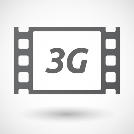 3g: Illustration of an isolated film frame with    the text 3G Illustration