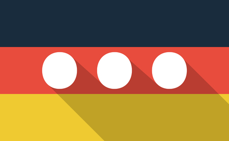 ellipsis: Illustration of a long shadow Germany flag with  an ellipsis orthographic sign