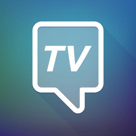Illustratie van een lange schaduw tooltip met de tekst TV