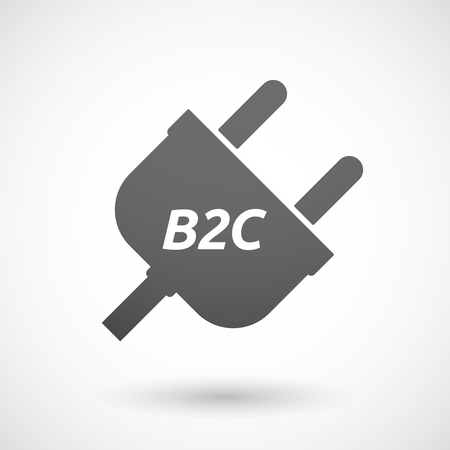 b2c: Illustration of an isolated plug with    the text B2C