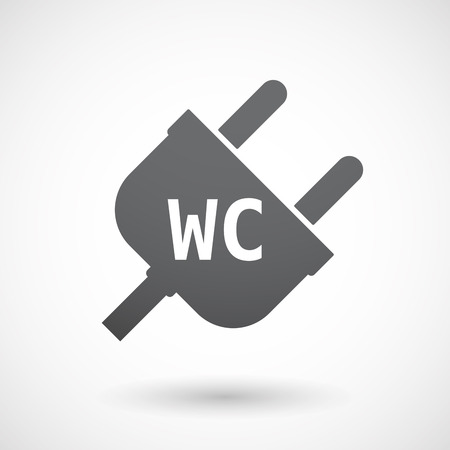 wc: Illustration eines isolierten Stecker mit dem Text WC
