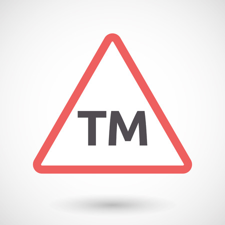 tm: Illustration of an isolated warning signal with    the text TM Illustration