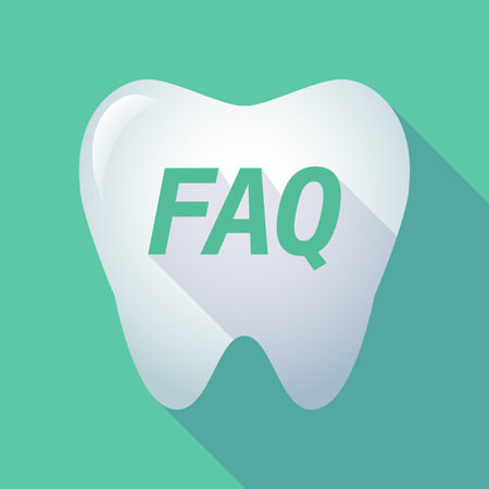 asked: Illustration of a long shadow  tooth with    the text FAQ