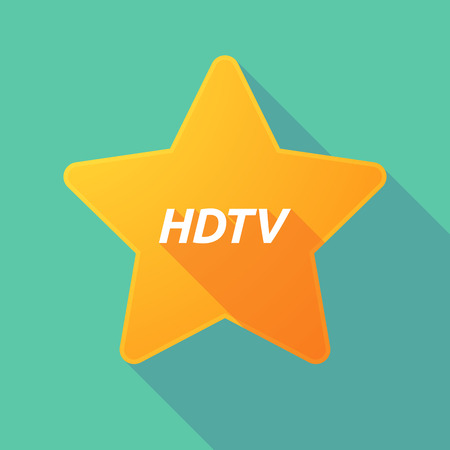 electronic voting: Illustration of a long shadow star with    the text HDTV
