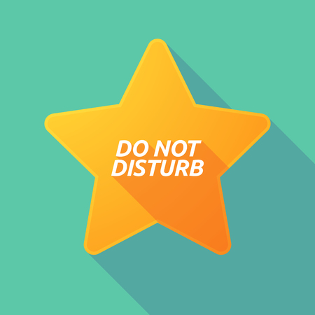 Illustration of a long shadow star with    the text DO NOT DISTURB
