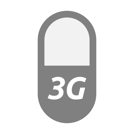 3g: Illustration of an isolated  pill with    the text 3G