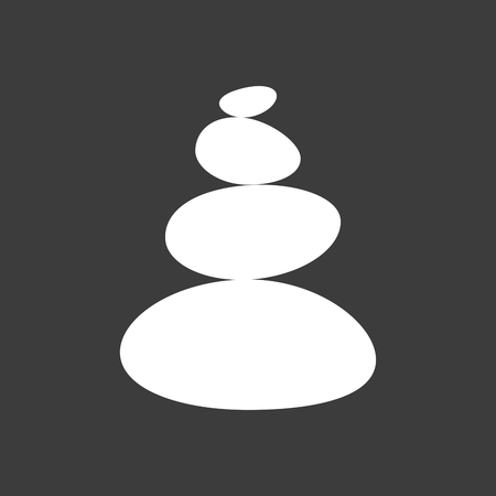 Isolated vector illustration of  a stacked zen stones