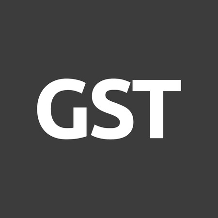 taxpayer: Isolated vector illustration of  the Goods and Service Tax acronym GST