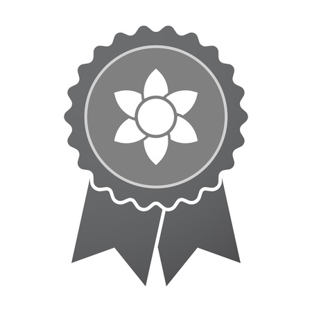 water quality: Illustration of an isolated badge with  a lotus flower Illustration