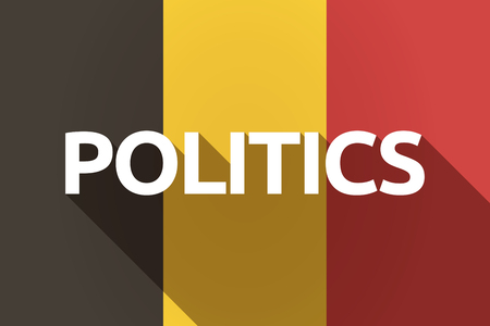 presidential: Illustration of a long shadow Germany flag with  the text POLITICS Illustration
