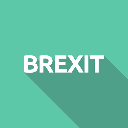 Long shadow illustration of  the text BREXIT