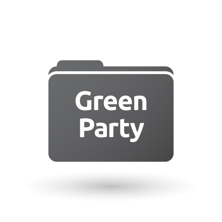 presidential: Illustration of an isolated folder signal with  the text Green Party