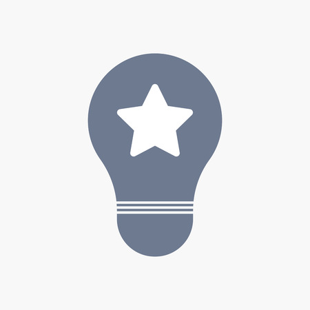 energy ranking: Illuatration of an isolated light bulb icon with a star Illustration