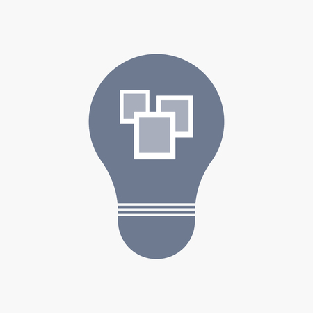 Illuatration of an isolated light bulb icon with a few photos