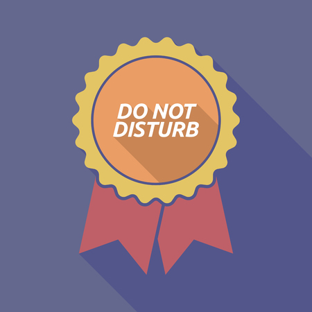 messa: Illustration of a long shadow badge with    the text DO NOT DISTURB