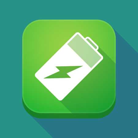 lithium: Illuatration of a long shadow app icon with a battery