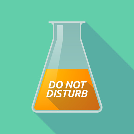 caution chemistry: Illustration of a long shadow chemical test tube with    the text DO NOT DISTURB