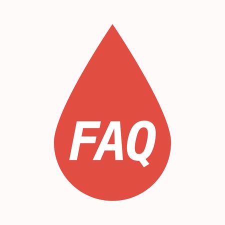 よくある質問本文分離血ドロップのイラスト