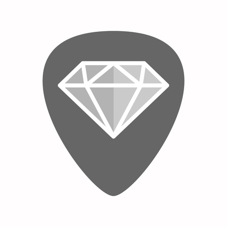 plectrum: Illustration of an isolated guitar plectrum with a diamond Illustration