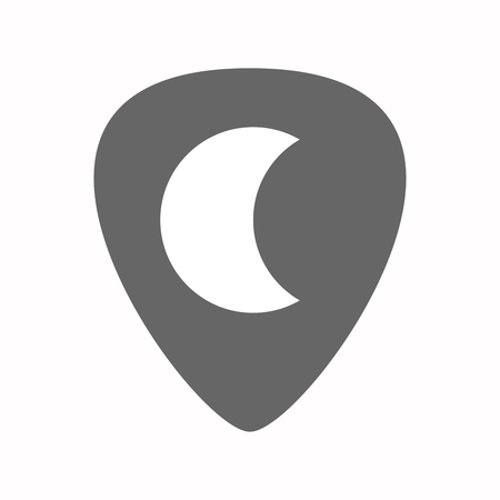plectrum: Illustration of an isolated guitar plectrum with a moon