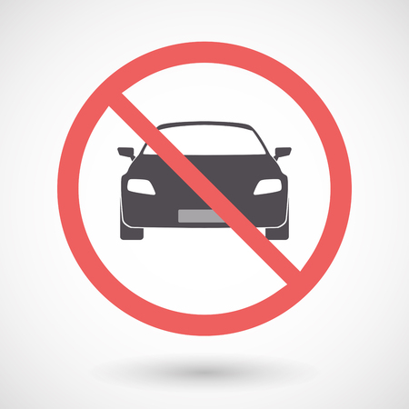 Illustration of an isolated forbidden signal with a car