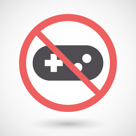 Illustration of an isolated forbidden signal with a game pad