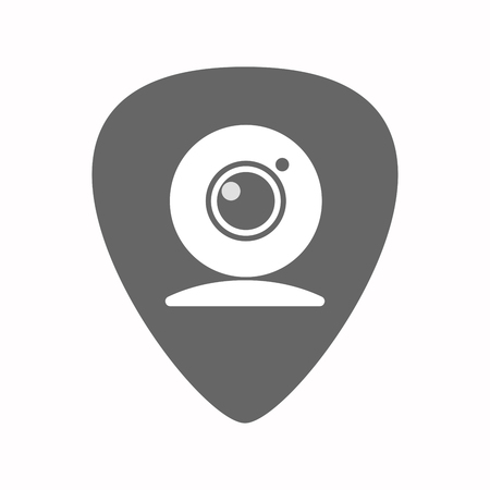 plectrum: Illustration of an isolated guitar plectrum with a web cam