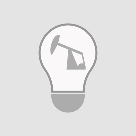horsehead pump: Illustration of an isolated light bulb with a horsehead pump