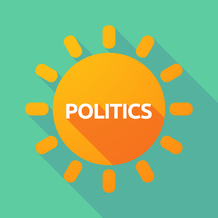 Illustration of a long shadow Sun with  the text POLITICS