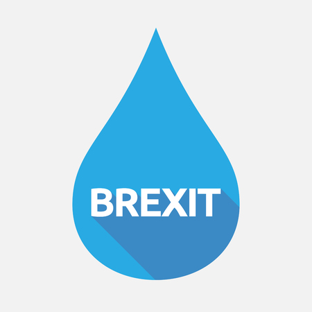 referendum: Illustration of an isolated flat color water drop with  the text BREXIT Illustration