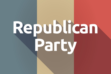 political party: Illustration of a long shadow France flag with  the text  Republican  Party