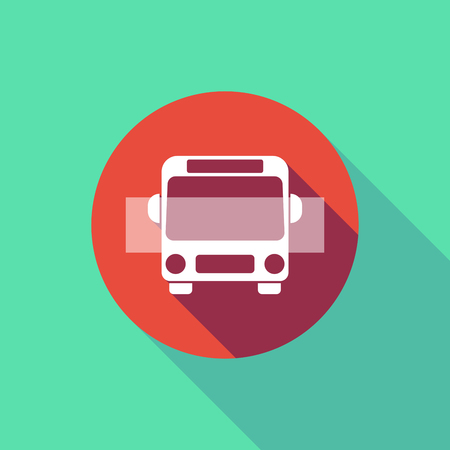 Illustration d & # 39 ; une longue ombre ne pas entrer signal avec un icône de bus Banque d'images - 80114390