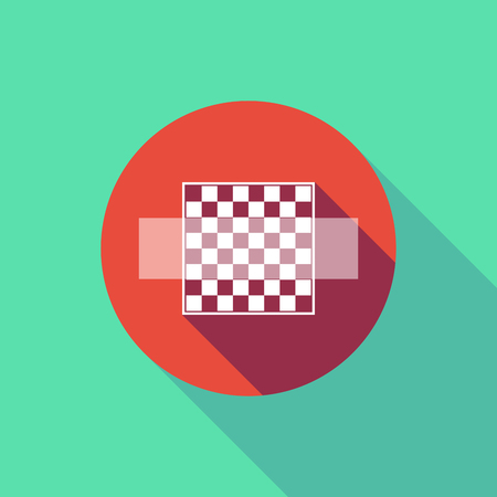 Illustration of a long shadow do not enter signal with  a chess board