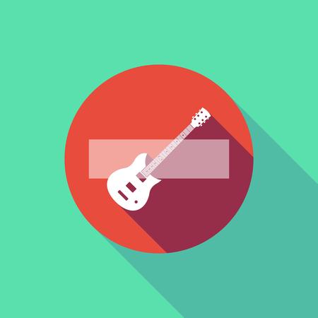長い影のイラストではエレク トリック ギターの信号は入力しないでください。