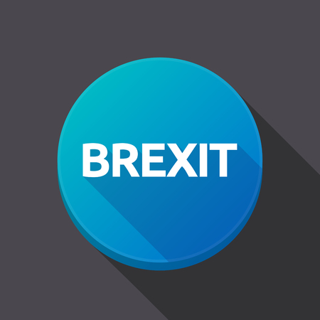 referendum: Illustration of a long shadow round web button with  the text BREXIT