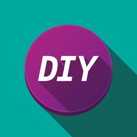Illustratie van langs schaduw ronde knop met de tekst DIY Stockfoto - 80234224
