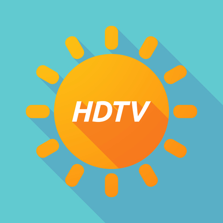 hdtv: Illustration of along shadow Sun with    the text HDTV