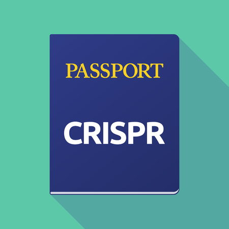 documentation: Illustration of a long shadow  passport with  the clustered regularly interspaced short palindromic repeats acromym CRISPR