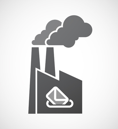 referendum: Illustration of an isolated factory with  a ballot box Illustration