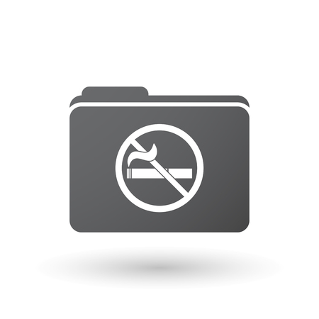 Illustration of an isolated folder with  a no smoking sign Illustration