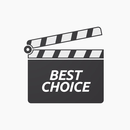 Illustration of an isolated clapper board with    the text BEST CHOICE