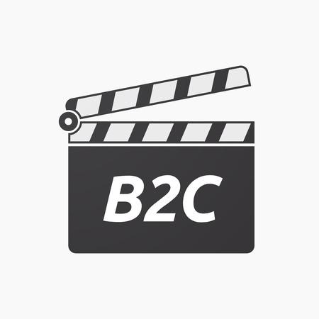 本文 B2C 分離クラッパー ボードのイラスト  イラスト・ベクター素材