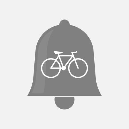Illustratie van een geïsoleerde bel met een fiets