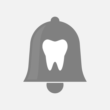 Illustration of an isolated bell with a tooth